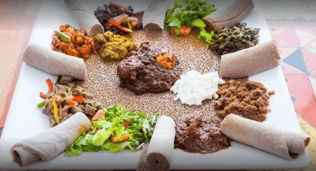 injera Ethiopian food zoma cleveland
